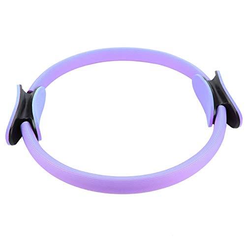 Guoshiy Círculo de Yoga, Anillo de Fitness de Doble Agarre, Equipo de Ejercicio en el hogar, Herramienta Deportiva de Resistencia para Construir músculos, moldear el Cuerpo(Purple, 12)