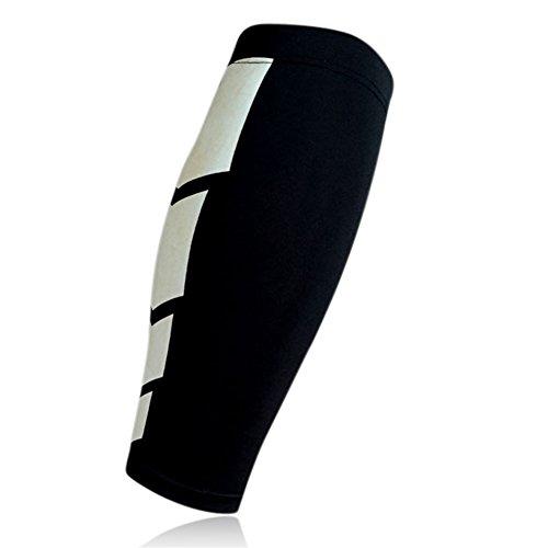 Kompressionsstrümpfe für die Wade, atmungsaktiv, für Laufen, Radfahren, Basketball und Crossfit, für Herren und Damen, Größe XL, Schwarz
