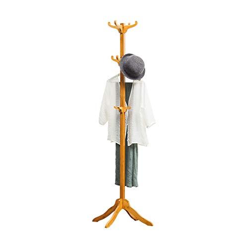 Râteliers multi-usages Porte-Manteau Plancher Simple Chambre Solide Bois Cintre Porte-vêtements Rack de Stockage à Domicile Casiers (Color : Brown, Size : 60 * 60 * 180cm)