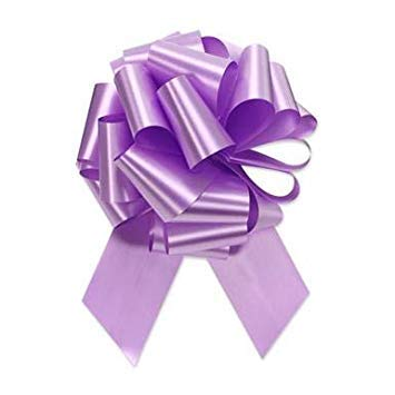 Lavender Ribbon Christmas Pull Bows - 8' Wide, Set of 6, Mother's Day, Easter, Holiday Decor, Garland, Baby Shower, Birthday, Wreath, Gift Bow, Spring, School Dance, Fundraiser