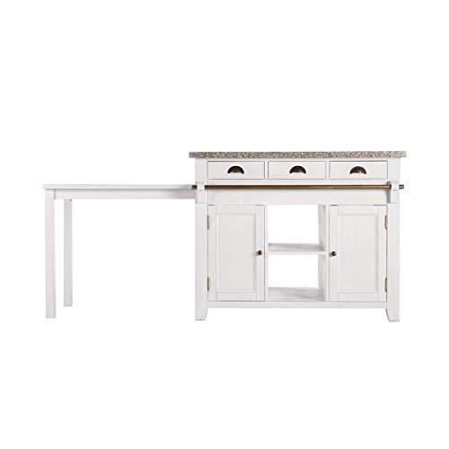 BUTLERS MAPLE HILL Küchenblock mit Granitarbeitsplatte - Kücheblock mit Granitarbeitsplatte | Stilvolle Arbeitsplatte & Stauraum für die Küche