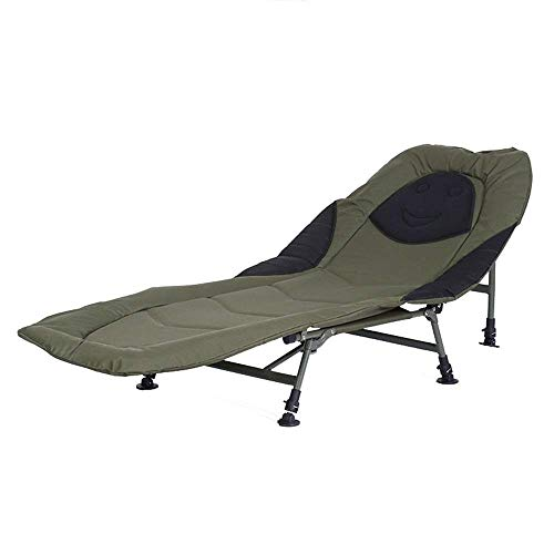 XUSHEN-HU 6 Pierna reclinable sillón Cama Bedchair Pesca de la Carpa Camping Camas de Playa Cubierta al Aire Libre