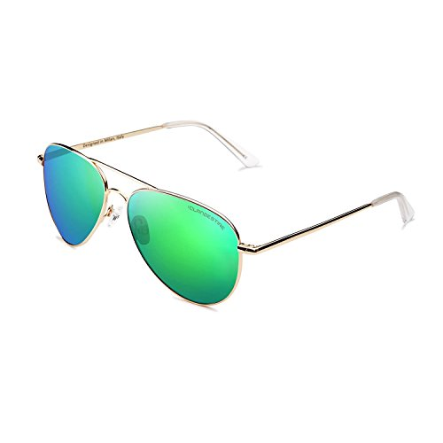 CLANDESTINE A10 Gold Green - Gafas de Sol de Nylon HD de Hombre & Mujer