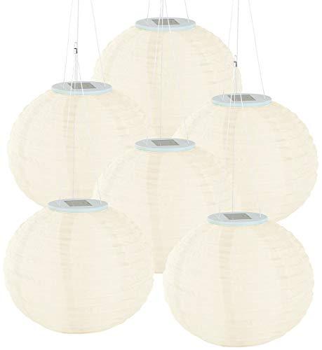 Lunartec Solar Licht: Solar-LED-Lampion, LEDs, Dämmerungs-Sensor, IP44, warmweiß, 6er-Set (Gartenlampions)