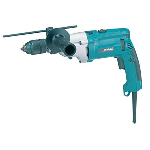 Makita HP2071F 240 V 13 mm Percussion Drill with Keyless Chuck in a Carry Case