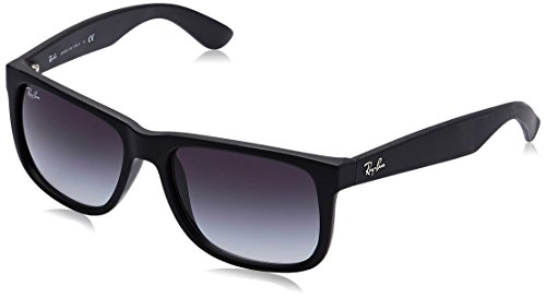 Ray-Ban Justin RB4165 Non-Polarized- Occhiali da Sole Unisex, Nero (601 / 8G), 54 mm
