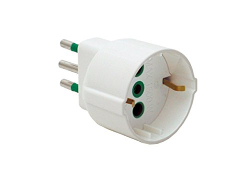 FME 82120 Tipo L (IT) Universal Blanco Adaptador de Enchufe eléctrico - Adaptador para Enchufe