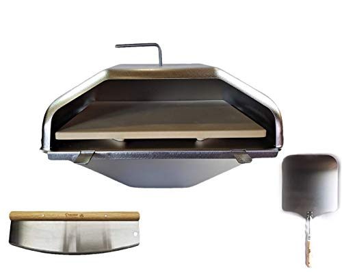 Green Mountain Grill Pizza Oven Attachment Ultimate Combo Includes Peel & Cutter