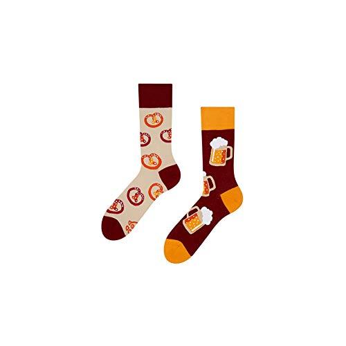 Good Mood Bier Buntes Design-Geschenk Socken 1 Paar