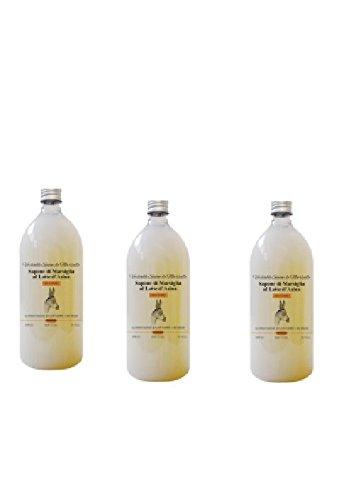BIOMEDA - 3 CONF DI SAPONE DI MARSIGLIA AL LATTE D'ASINA 500 ML vitamine, acidi grassi,...