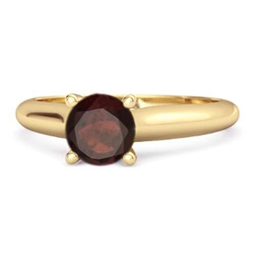 Shine Jewel Multi Elija su Piedra Preciosa Anillo Delaney Chapado En Oro Amarillo De Plata De Ley 925 De 0.25 Ctw Solitario (15, Citrino)