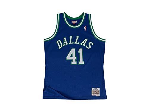 Mitchell & Ness NBA Dallas Mavericks Swingman 2.0 Dirk Nowitzki Trikot Herren blau/weiß, XXL