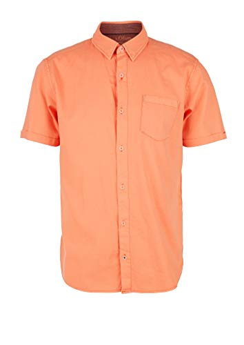 s.Oliver Herren 130.10.004.11.120.2024399 Hemd, Orange, 3XL