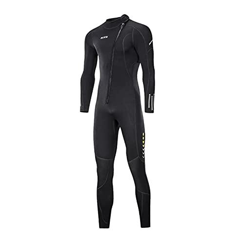Perfeclan 3mm Neopren Tauchen Neoprenanzug Erwachsene Front Zip Neoprenanzug Dive Skin Anti-UV Bademode Tauchanzug Badeanzug für Wassersport - Herren XL