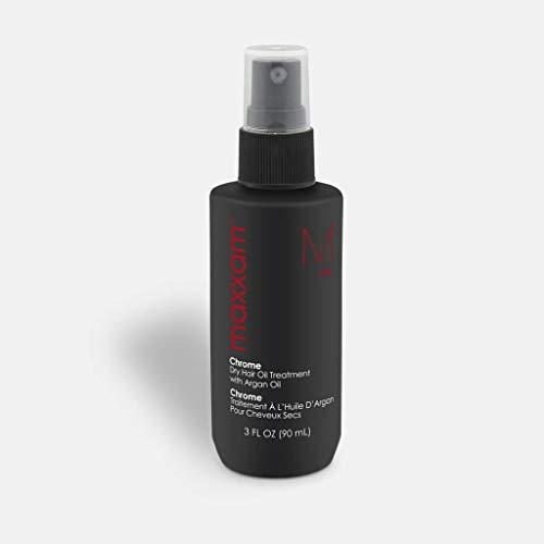 MAXXAM CHROME, Leave in Hair Oil Treatment Heat Shield for Dry Hair with Argan Oil (3 oz) by HAIRCLUB