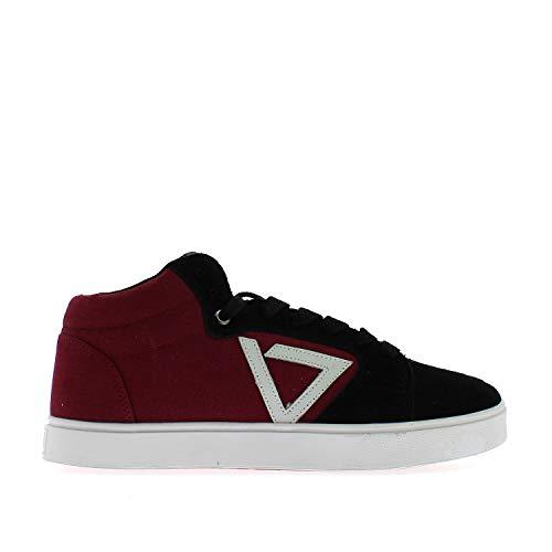 Ade Inward Mid Sneaker Uomo HP91125 Bordeaux Black Wht (Numeric_38)