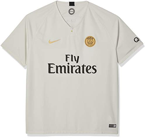 NIKE 2018-2019 Paris Saint-Germain (PSG) Away Stadium Jersey (Light Bone) (L)