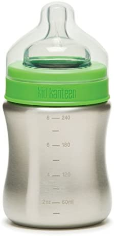 Klean Kanteen Kid Kanteen Stainless Steel Baby Bottle with Medium Flow Silicone Nipple 9 Ounce product image