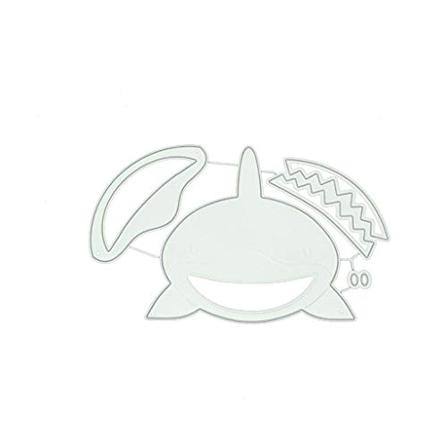 Ncbvixsw Hai DIY Stanzschablone, Metall Stanzformen Schablonen Scrapbooking Prägeschablonen, Handwerk Prägen Papier DIY Herstellung Geschenk Cutting Dies