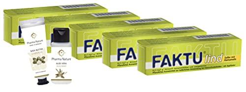 Faktu lind Salbe mit Hamamelis 25 g Sparset mit 5 x 25 g und 1 x Handcreme (ODER Duschbad) der Marke Pharma Nature