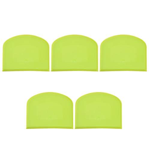 Cabilock 5 Stück Teigschaber Schüsselschaber Kunststoff-Teigschneider Praktischer Bankschaber zum Formen von Teig Oder Gebäck