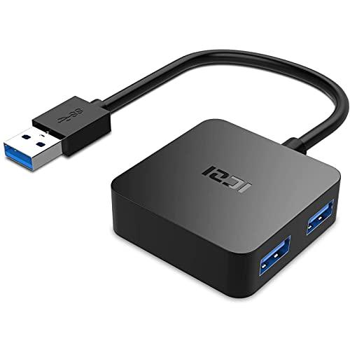 ICZI USB 3.0 HUB,Mini Quadrat USB Hub 3.0 Kompakt 4 Port USB Verteiler Datenhub für PS4, MacBook,Surface Pro, Huawei,Windows Laptop,Ultrabooks und Andere USB 3.0 Kompatibel Geräten