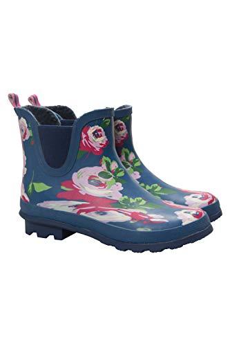 Mountain Warehouse Bota de Agua Floral Tobilleras para Invierno Azul Marino 38