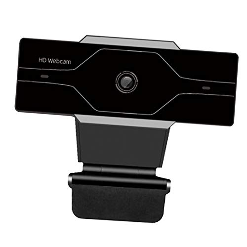 balikha Webcam with Microphone,HD USB Computer Camera [Plug And Play] Streaming Web Cam for YouTube And Conferencing,Teaching,Calling,Recording,Gaming - 1080P Silver