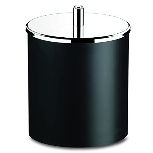 Lixeira PP com Tampa Inox, 5,4 litros, 18,5 x 23 cm, Preto, Brinox
