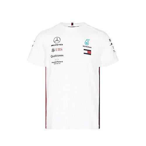 Official Formula One Merchandise | Männer | Offizielle Mercedes-AMG Petronas Motorsport 2019 F1™ | Team T-Shirt | Weiß | Baumwolle und Elestan | Größe: S