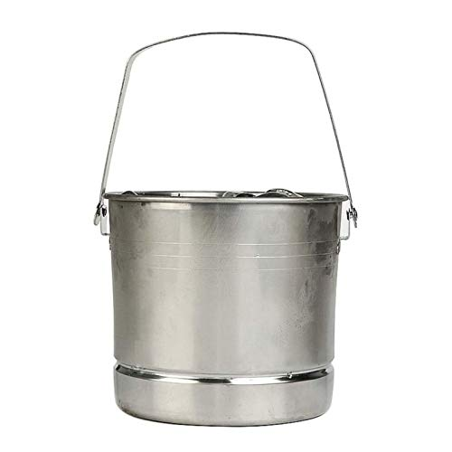 Adesign Champagne de Acero Inoxidable Cubo de Vino Punch Bebida Bebida Fiesta de Enfriador de Hielo, Capacidad Grande Botella de Vino Cooler Champagne Cerveza Chiller Hielo Barrel
