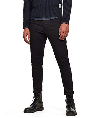 G-Star Men's 3301 Slim Jeans, Black, 35W x 34L