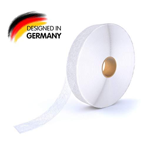Rietlow Saumband zum aufbügeln - Bügelband mit 20 m Länge und 20 mm Breite - Saumvlies aus hochwertigem Polyamid - Verbessertes Konzept 2020