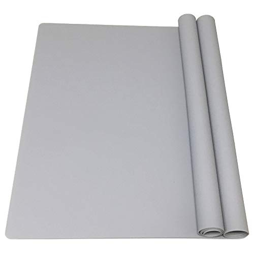 EPHome 2Pack Extra Large Multipurpose Silicone Nonstick Pastry Mat, Heat Resistant Nonskid Counter Mat, Table Mat, 23.6  x15.75   (Gray)