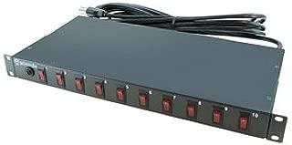 A-Neutronics 10 Outlet 1U Rack Mount PDU w/Individual Switches