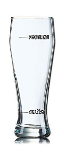 PorcelainSite Geschenkideen GmbH Lustiges Bierglas Weizenbierglas Bayern 0,5L - Problem - Gelöst