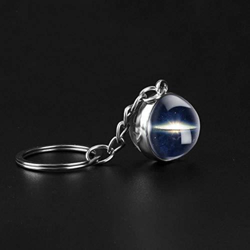 Viner doppelseitige Glaskugel Schlüsselbund handgefertigte Schlüsselbund Planet Anhänger Schlüsselring Schlüsselhalter Planet Geschenk, Stil 22