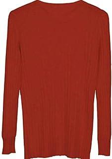 SDJYH Suéter para Mujer Suéteres de Punto Suave y Ligero Tops para Mujer 01