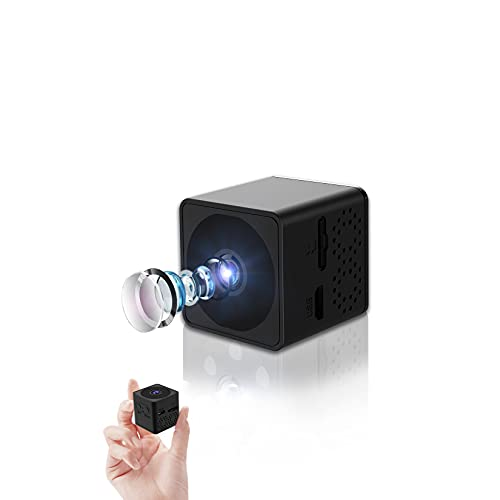 Chilison 小型カメラ 1280*720 スパイカメラ 長時間録画 録音 隠しカメラ 32GBカード付き 防犯監視カメラ 屋外 室内用 動体検知 赤外線暗視 1100mAhバッテリー内蔵 150°広角 上書き機能