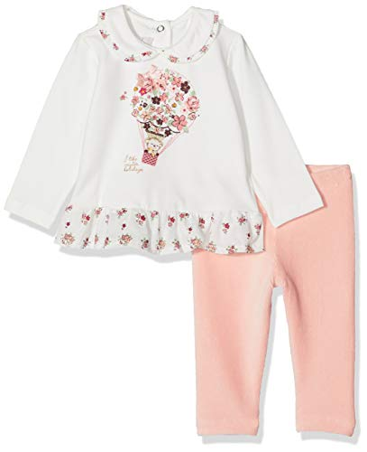 Chicco baby-meisjes Completo T-shirt Maniche Lunghe Con leggings kledingset