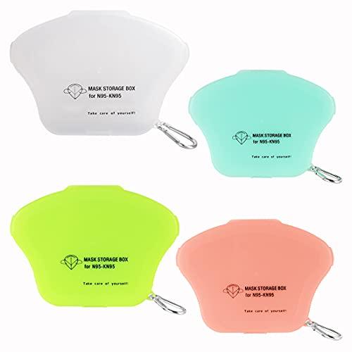 Aufbewahrungsbox für Masken, 4 Stück Tragbare Maskenbox, Masken-Aufbewahrungstasche Maskenbox für Unterwegs Schule Büro