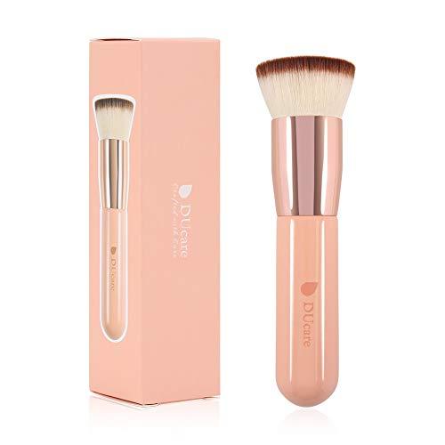 DUcare Brocha de Base Brocha Kabuki 1PCS Brochas Para Maquillaje Facial Profesional Para Bases De Maquillaje Liquido Tradicionales y Fluidas(rosa)