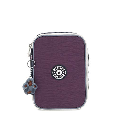 Kipling 101 Pens Case Purple Verbena Colorblock