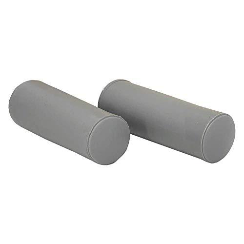 DIWARO® | 2er Set Rolladenstopper | Länge 60 mm | Farben grau | mit Verschlusskappe und Schraube | Material Kunststoff | für Endleiste, Endschiene | Rolladenpanzer (grau)