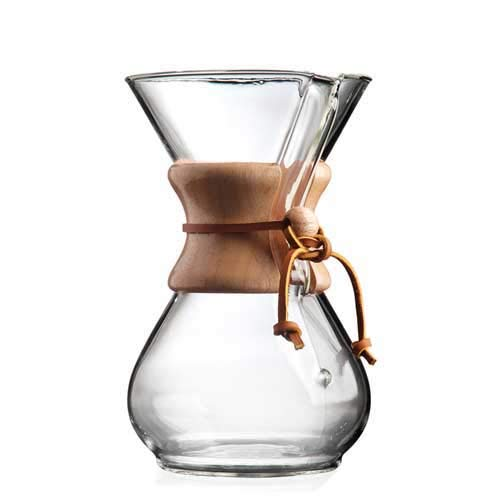 Cafetera de cristal Chemex de 400ml, cafetera por goteo para 3 tazas