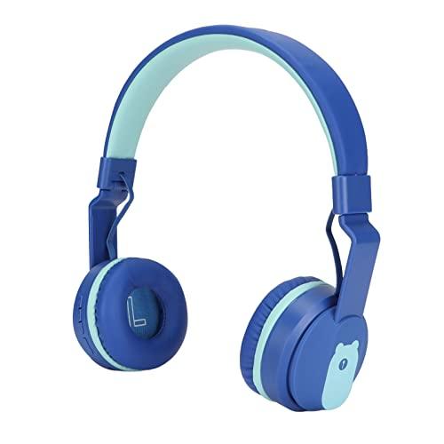 Surebuy Auriculares para Niños, Diadema Ajustable, Auriculares Plegables para Niños, Portátiles, Cómodos De Llevar para Cumpleaños, Día De Los Niños para Niños(Azul)