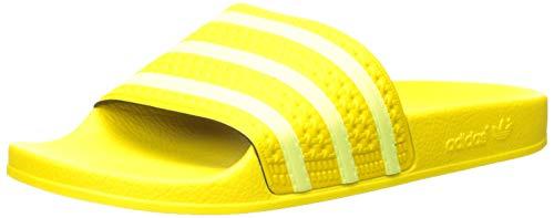 adidas Originals Women's Adilette Slide Sandal, Yellow/semi Frozen Yellow/Yellow, 7 M US