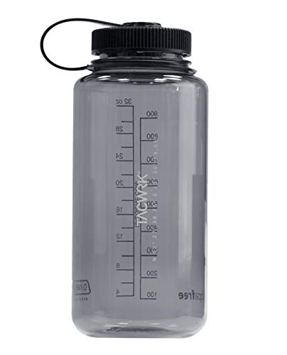 TACWRK Nalgene Gourde 1 L Everyday Larg WH TW Coordinaten Edition Gris – Bouteille de sport sans BPA, anti-fuite, sans goût, facile à nettoyer