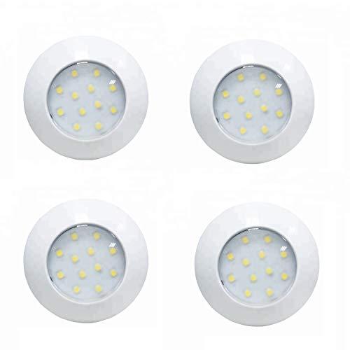 Lot de 4 spots LED pour caravane, autocaravane, bateau - 12 V, 24 V