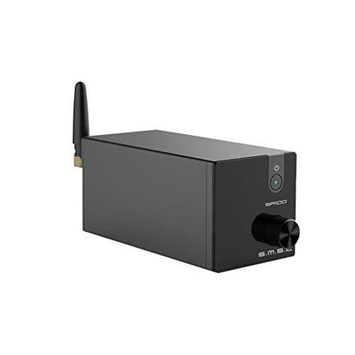 S.M.S.L. SA100 Amplificatore digitale Bluetooth Classe D 2 canali 50W x 50W Amplificatore di potenza TPA3116 Amplificatore da tavolo Mini Stereo HiFi AMP (Nero)